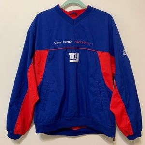 NFL On Field New York Giants Reebok Pullover Sz L